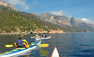 Sardinien Kanu fahren