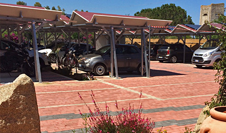 Hotel services: Covered parking