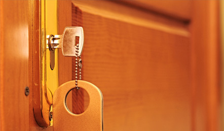 Hotel services: Room keys