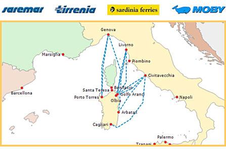 Prenotazione traghetti Sardegna